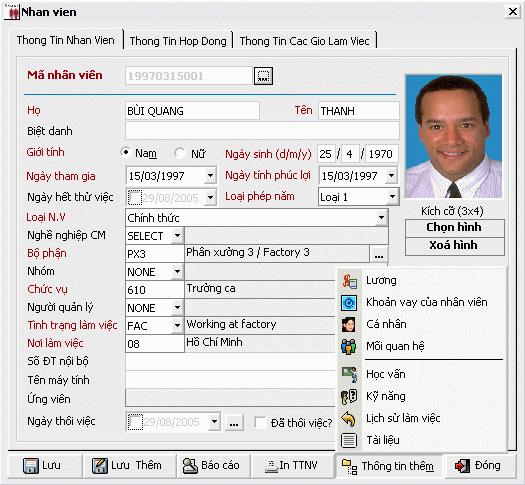 Thông tin nhân viên